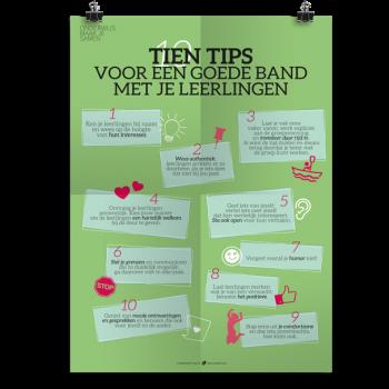 Prikkelende poster: Tien tips goede band leerlingen