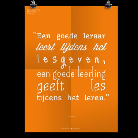Prikkelende poster: Een goede leraar
