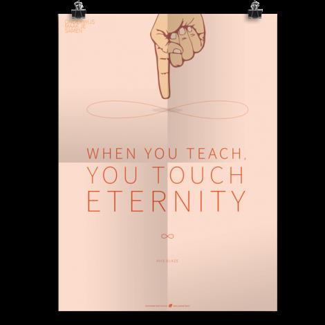 Prikkelende poster:  Touch eternity