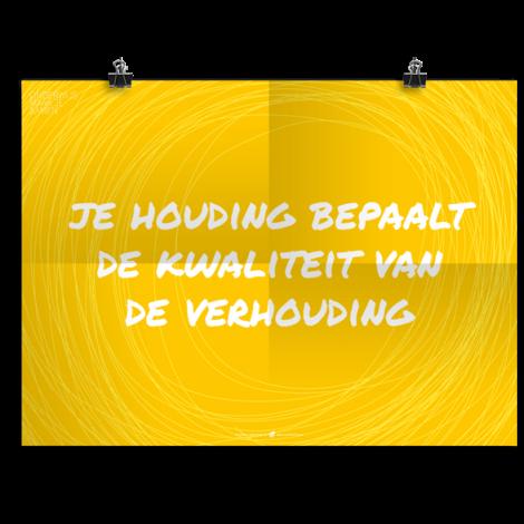 Prikkelende poster: Houding-Kwaliteit-Verhouding