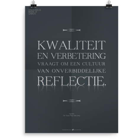 Prikkelende poster: Reflectie