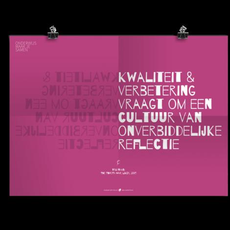 Prikkelende poster: Onverbiddelijke reflectie
