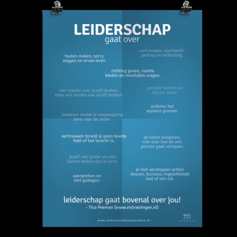 Prikkelende poster: Leiderschap gaat over