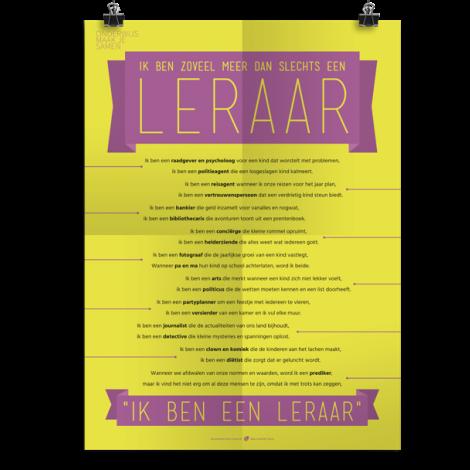 Prikkelende poster: Een leraar is zoveel meer