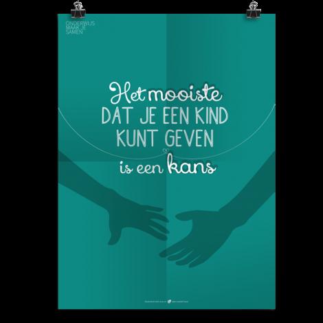 Prikkelende poster: Het mooiste dat je een kind kunt geven