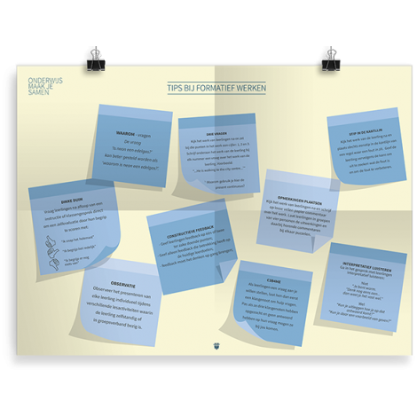 Prikkelende poster: Tips bij formatief werken