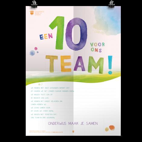 Prikkelende poster: Een 10 voor ons team