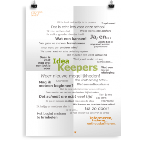 Prikkelende poster: Idea keepers