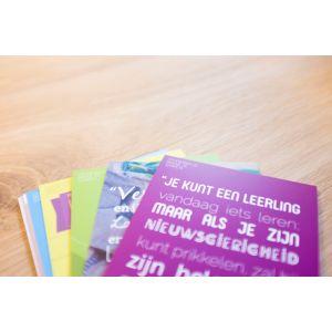 Prikkelende set (10) ansichtkaarten voor de leraar