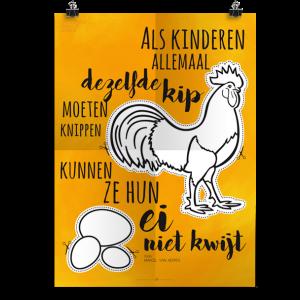 Prikkelende poster: Kip knippen
